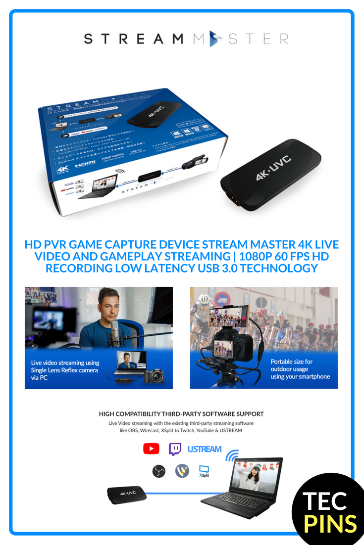 $119 99 TEC STREAM MASTER 4K Live Video and Gameplay