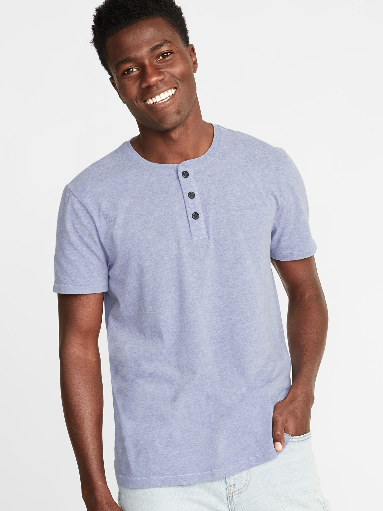dbd88668 Soft-Washed Jersey Henley for Men in 2019 | Stitch fix | Mens tops ...