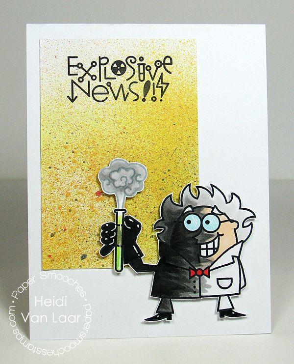 Card by PS DT Heidi Van Laar using the PS stamp set Great Chemistry