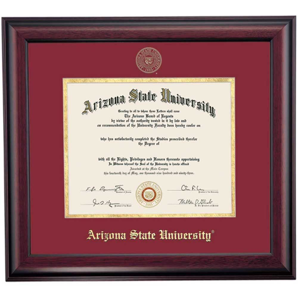 Arizona State School Color Traditional Diploma Frame | Arizona State ...