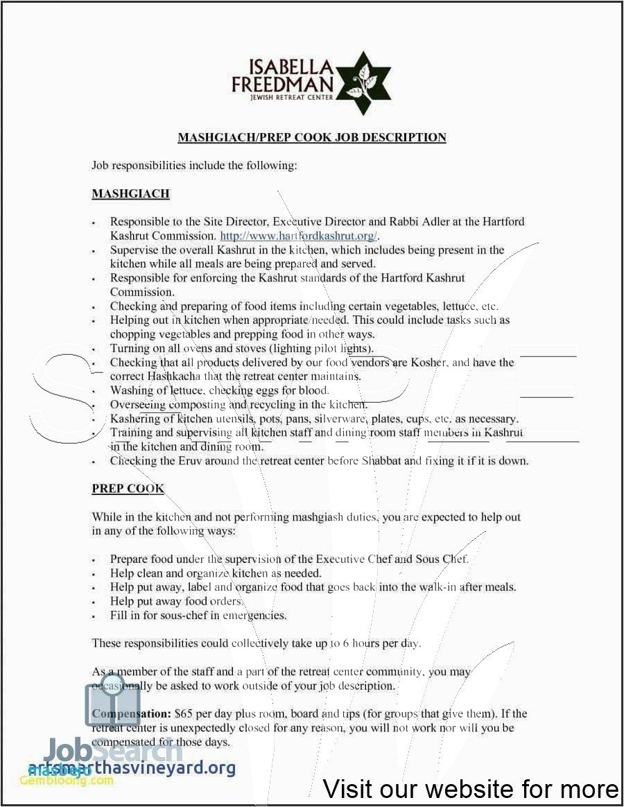 Caregiver Job Description Resume Sample in 2020