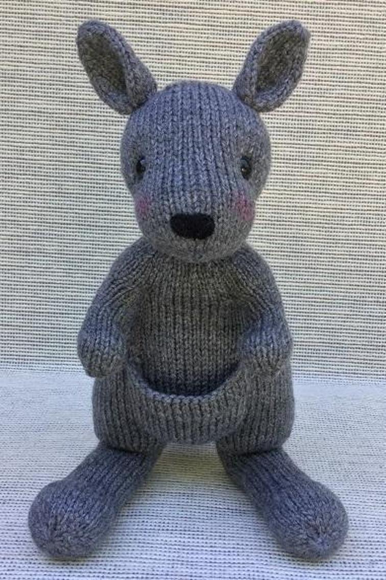 Knit Kangaroo Joey | Craftsy | Animal knitting patterns ...
