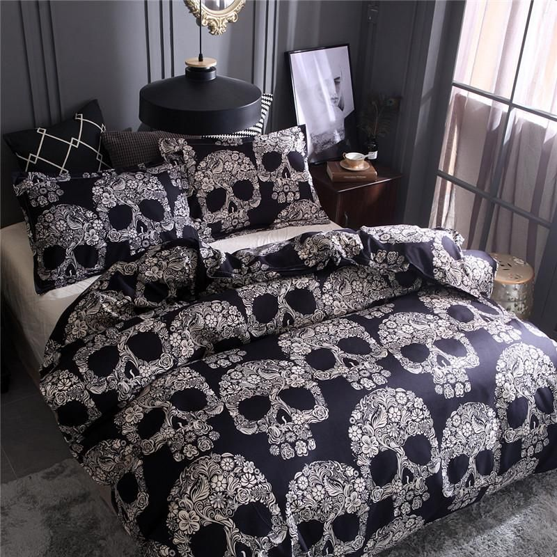 Black Sugar Skulls Bedding Skull Bedding Bed Linens Luxury Bed