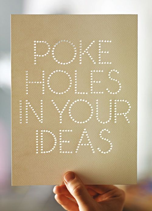 Poke holes in your ideas. Rethink Scholarship Poster ...