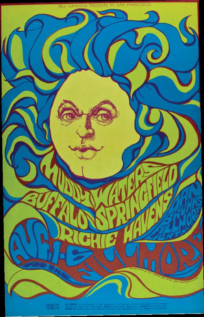 60s Psychedelic Concert Art Posters