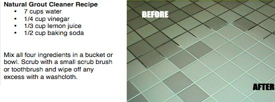 Clean Grout Lines Using Chemical Free Products Grout Cleaner