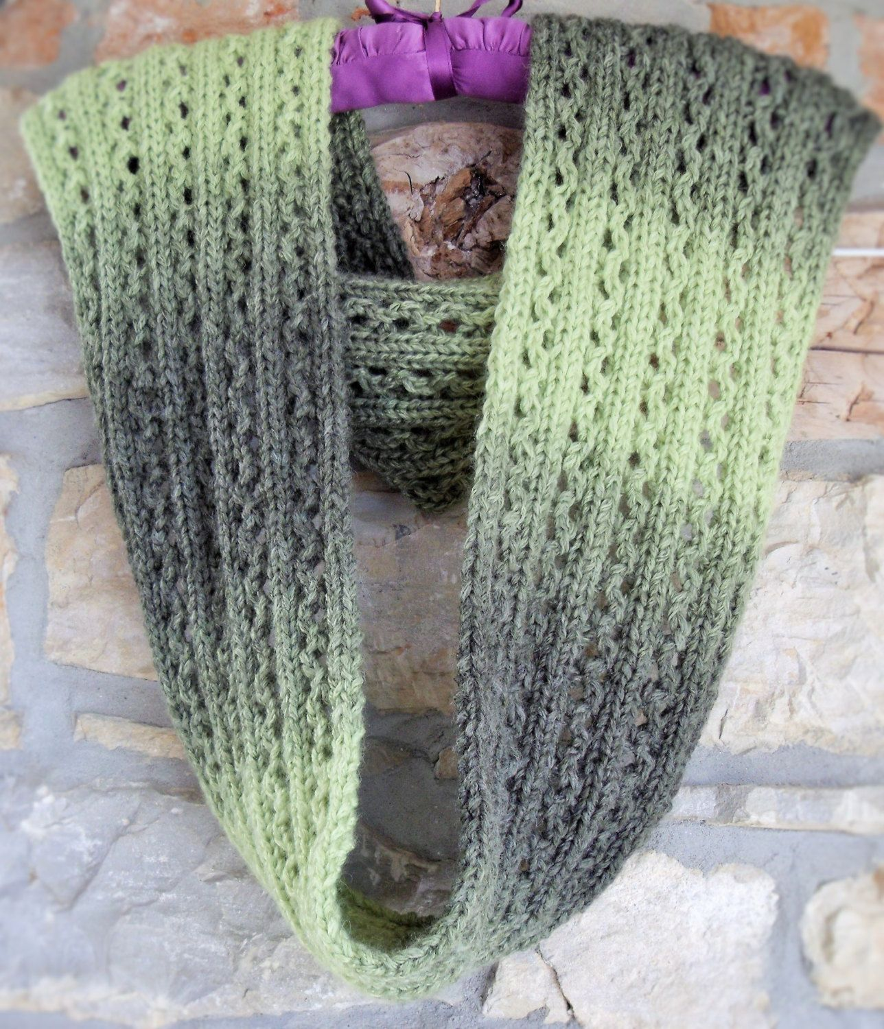 Hand knit infinity scarf lacy knit infinity cowl ladies hand hand knit infinity scarf lacy knit infinity cowl ladies hand knitted lacy pattern green infinity scarf bankloansurffo Choice Image