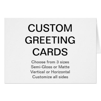 Custom personalized 55x425 photo greeting card create your own custom personalized 55x425 photo greeting card create your own gifts m4hsunfo