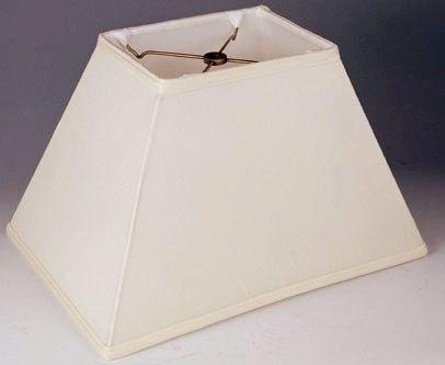 Tapered Silk Rectangular Lamp Shade Cream White Black 4 5 6 X9 12 7 X10 14 8 X11 16 9 X12 18