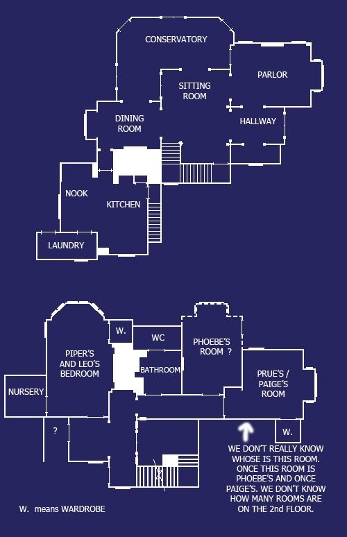 Charmed house blue prints famous homes from films for Famous building blueprints