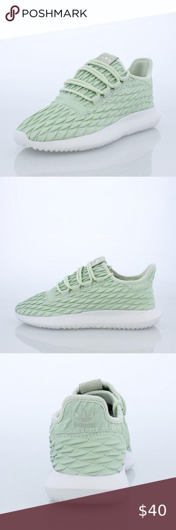 Mint Green Adidas Tubular Sneakers