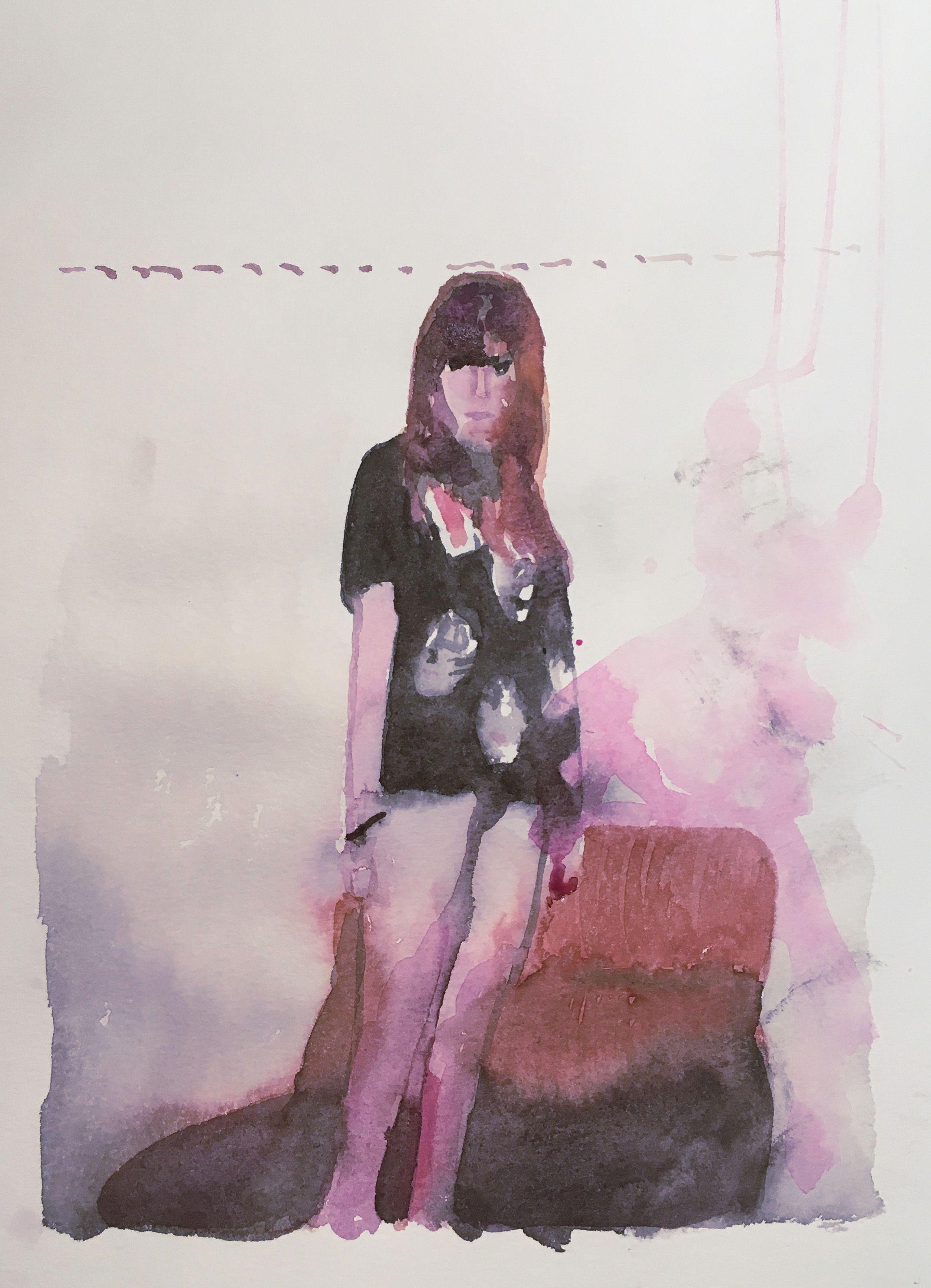 Markus Boesch Five Feet High And Rising Watercolor On Paper 42 Cm X 298 Cm Www Markusboesch Net