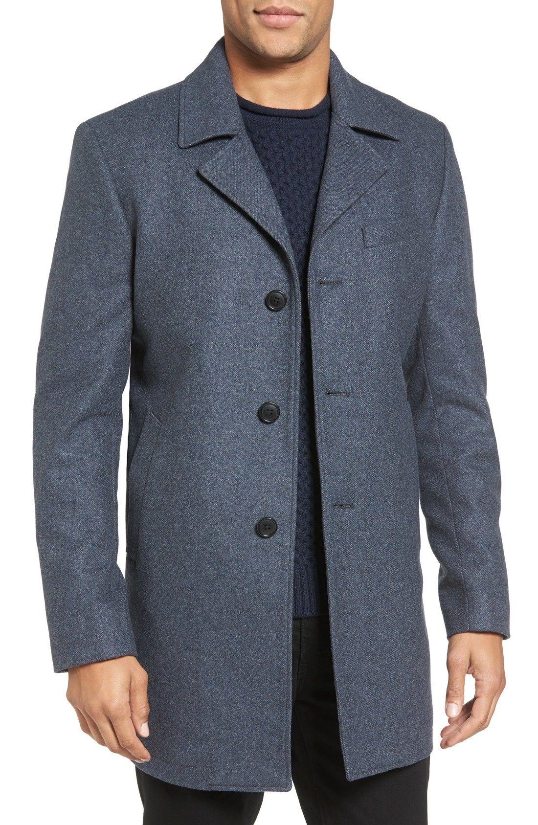07168303cd9 Michael Kors Slim Fit Wool Blend Top Coat available at  Nordstrom ...