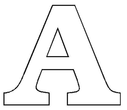Block Letter Outlines Applique Templates Pinterest Letters Applique Templates Lettering Letter A Crafts