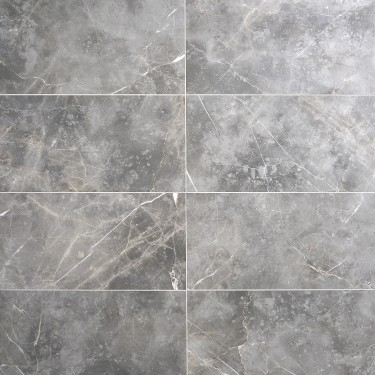 Marble Tech Grigio Imperiale 12x24 Polished Porcelain Tile Polished Porcelain Tiles Porcelain Flooring Grey Marble Tile