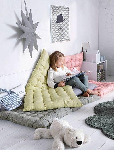 Bodenmatratze für Kinderzimmer GRÜN GESTREIFT | Actual girls room ...