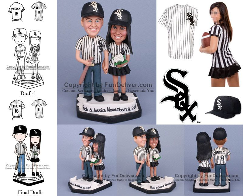 White Sox Wedding Cake Toppers Chicago Decorations