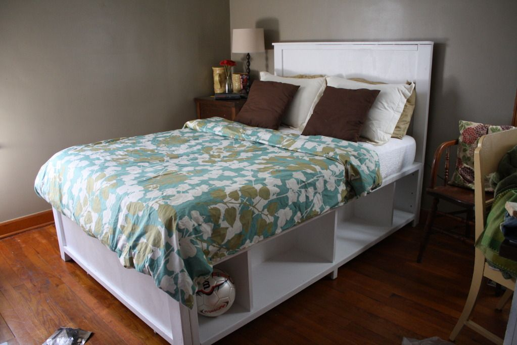 diy Full Bed Frame with Storage | ... make your bed pine amp plywood ...