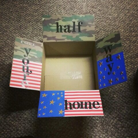 Half Way Home Care Package I Made For My Deployed