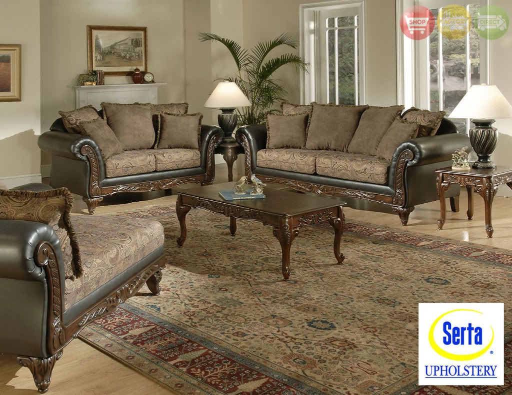 Serta ronalynn formal antique style luxury sofa love for Formal sofa sets