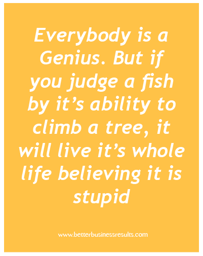 Fish Motivational Quotes: Motivational Quote Everybody Is A Genius. But If You Judge