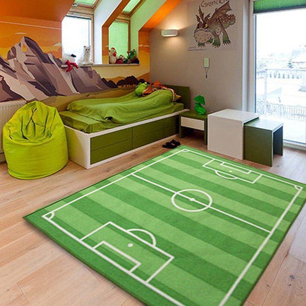 Detalles De Alfombra Infantil Para Jugar Futbol Para Ninos Moqueta
