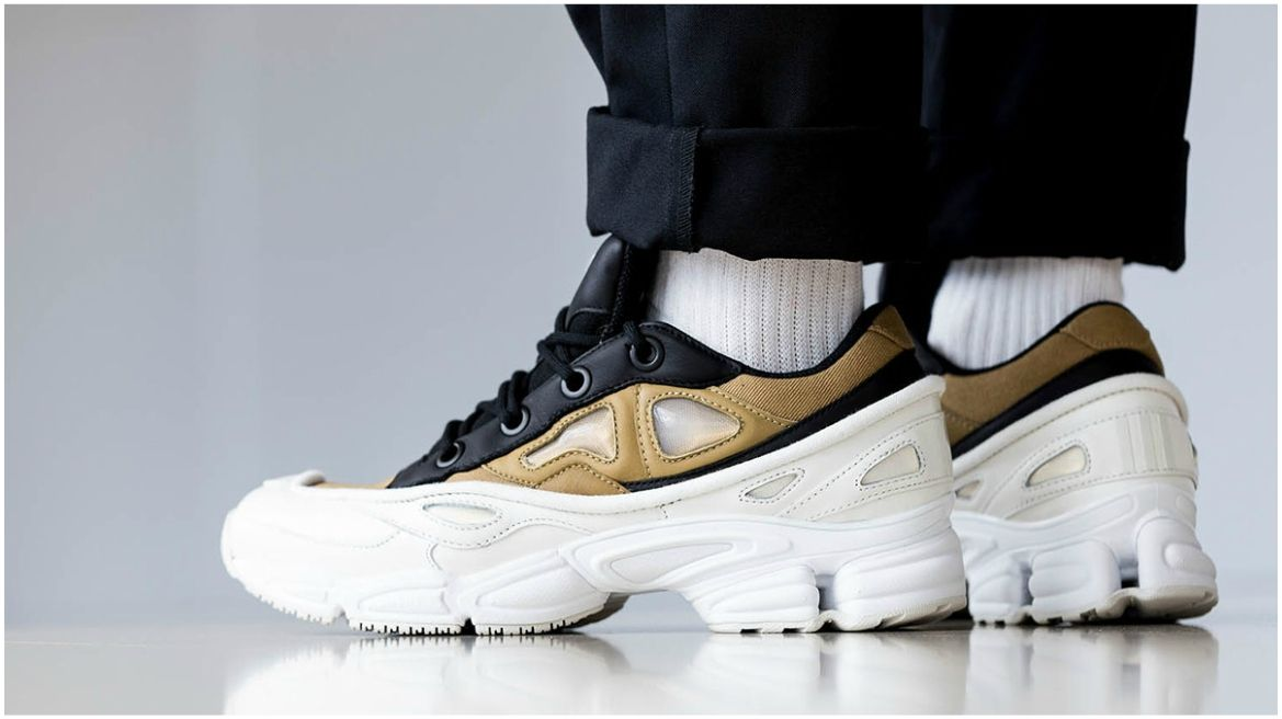 2fca1b8a50 The best sneakers from 2018. Image result for raf simons ozweego 3 gold