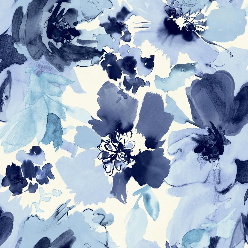 Stacy Garcia Paper Muse St6023 Aquarella Wallpaper In 2020 Blue