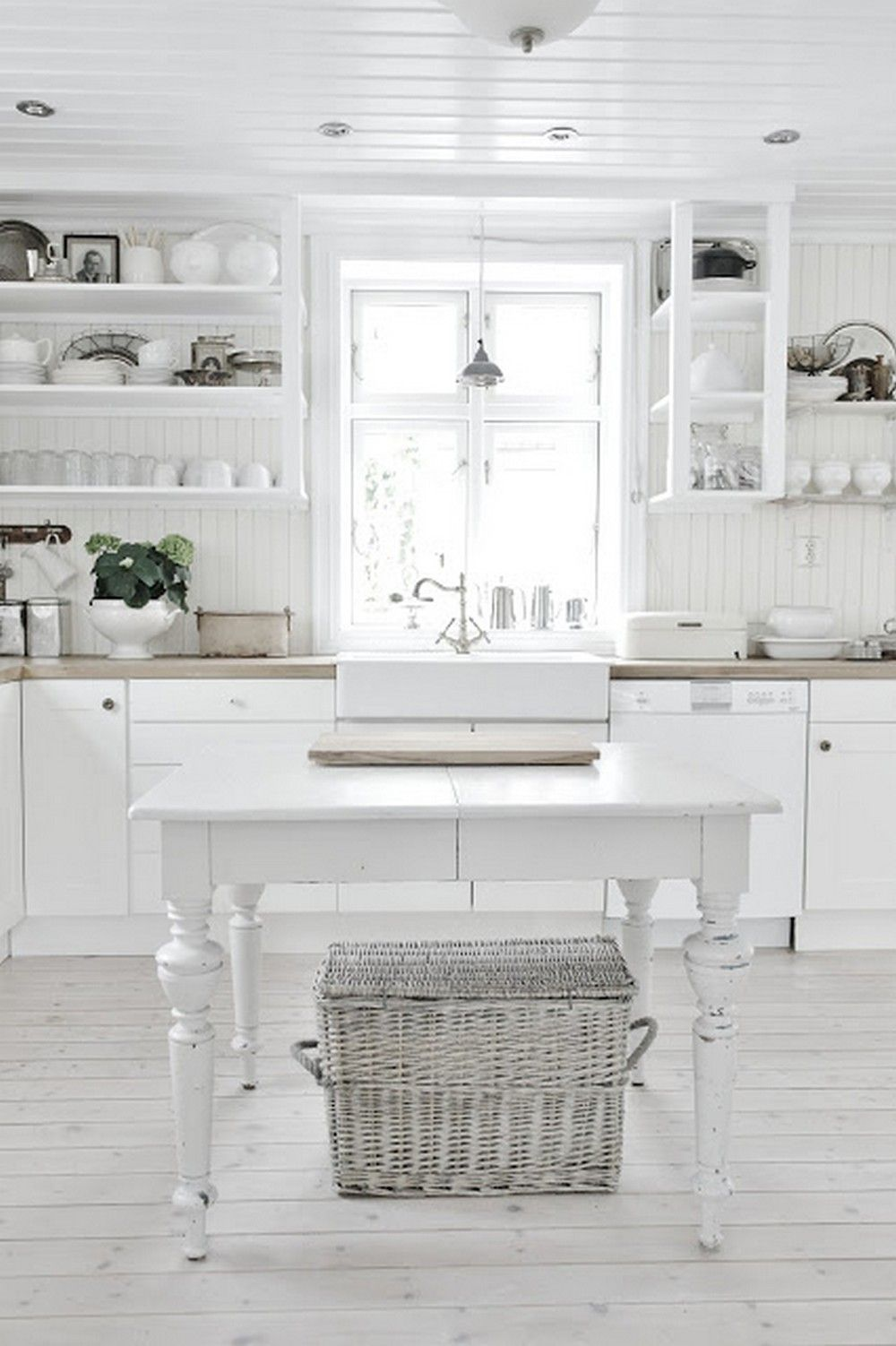 elegant white shabby chic kitchen wall shelves kitchen wall