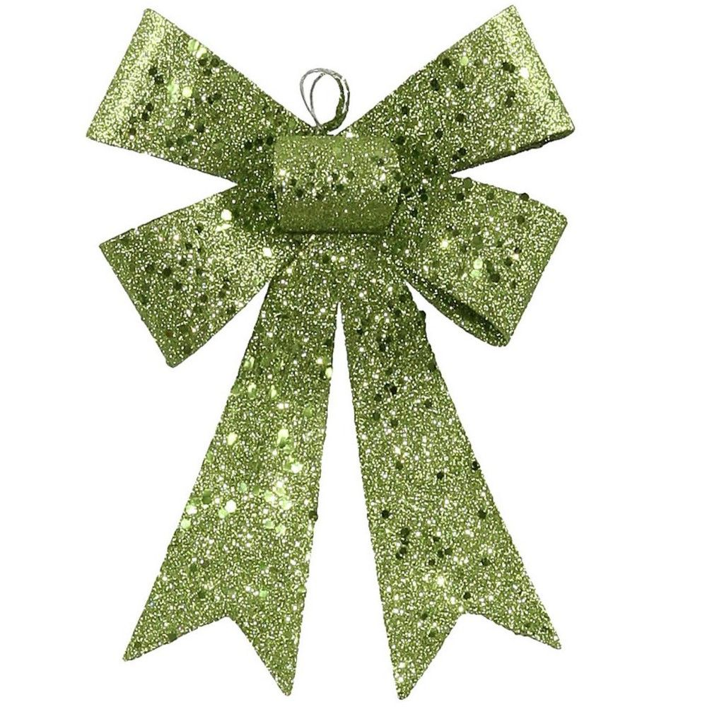 Vickerman 7 Sequin And Glitter Bow Christmas Ornament Lime Green Christmas Ornaments Glitter Christmas Green Sequins