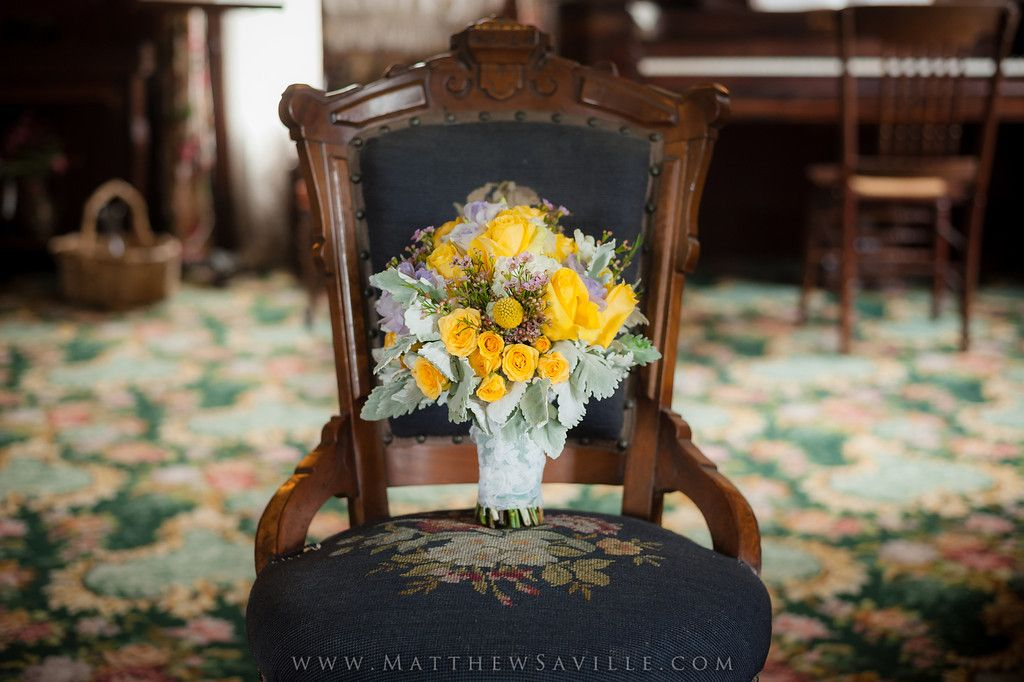 June 2013 Wedding at the Heritage Museum of Orange County - Bride's Bouquet taken inside the historic Kellogg House - Photo by Matthew Saville