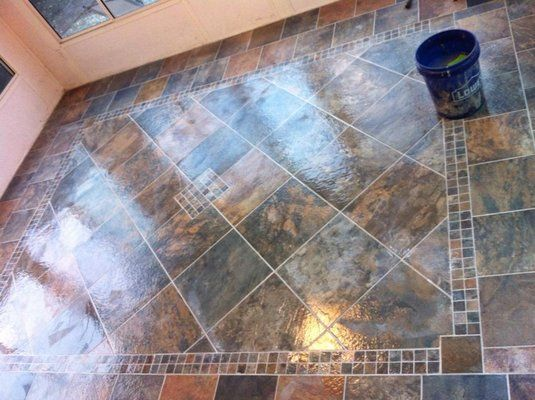 Tile Pattern S For Continental Slate Tiles Is The Lowes Brand Porcelain Look