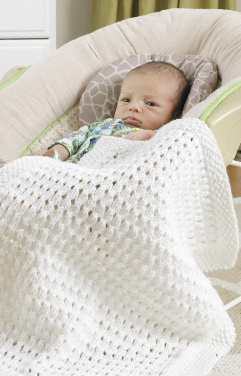 Car Seat Blankets Knit Easy Baby Blanket Knitted Baby