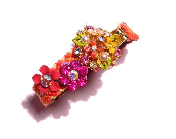 Vintage Rhinestone Friendship Bracelet  Spring by PureEssentia, $87.00