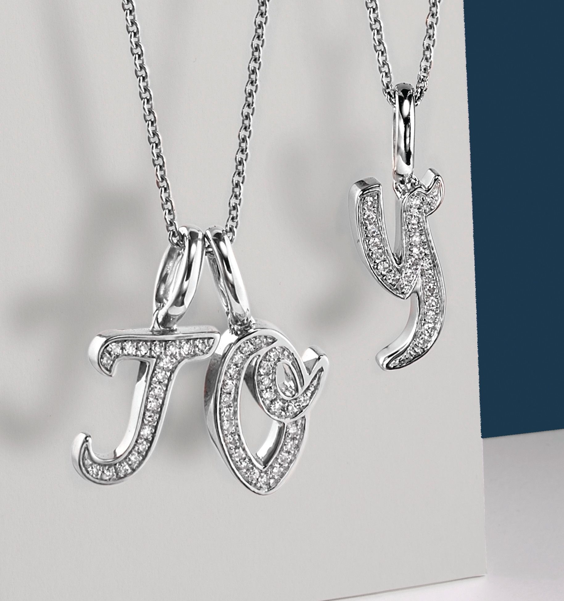 Diamond Alphabet Pendants by Monica Vinader Jewelry