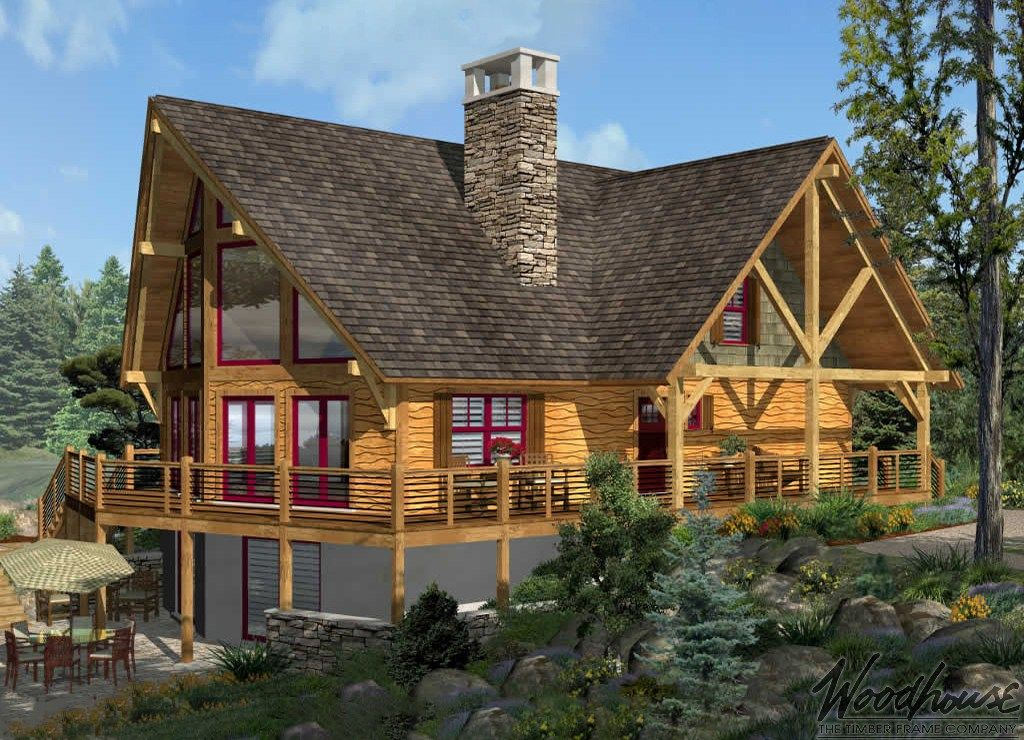 Tupper Lake Prow Woodhouse The Timber Frame Company Basement House Plans Timber Frame Home Plans A Frame House