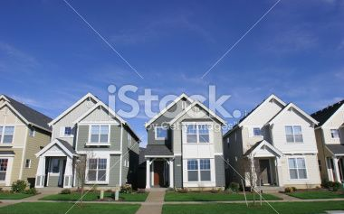 Row of Houses Royalty Free Stock Photo