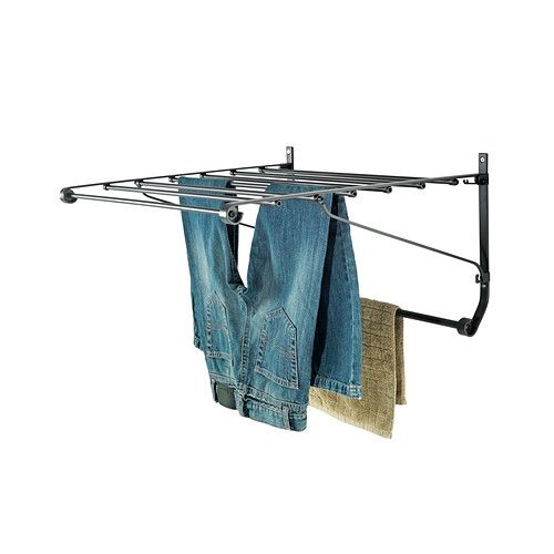 i actually like this drying rack from ikea it mounts to the shower i imagine it in a 1950 39 s. Black Bedroom Furniture Sets. Home Design Ideas