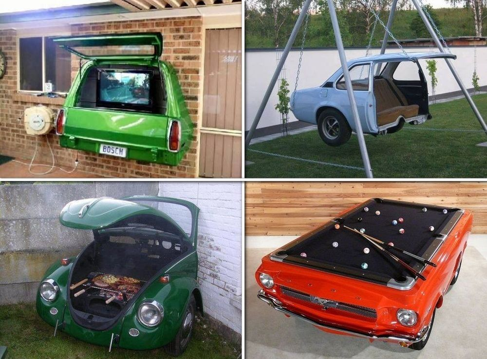 Aren 39 t these clever here are some ideas on how to recycle for Recycled car parts furniture
