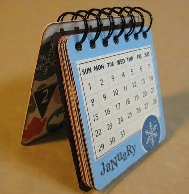 coaster-sized calendar