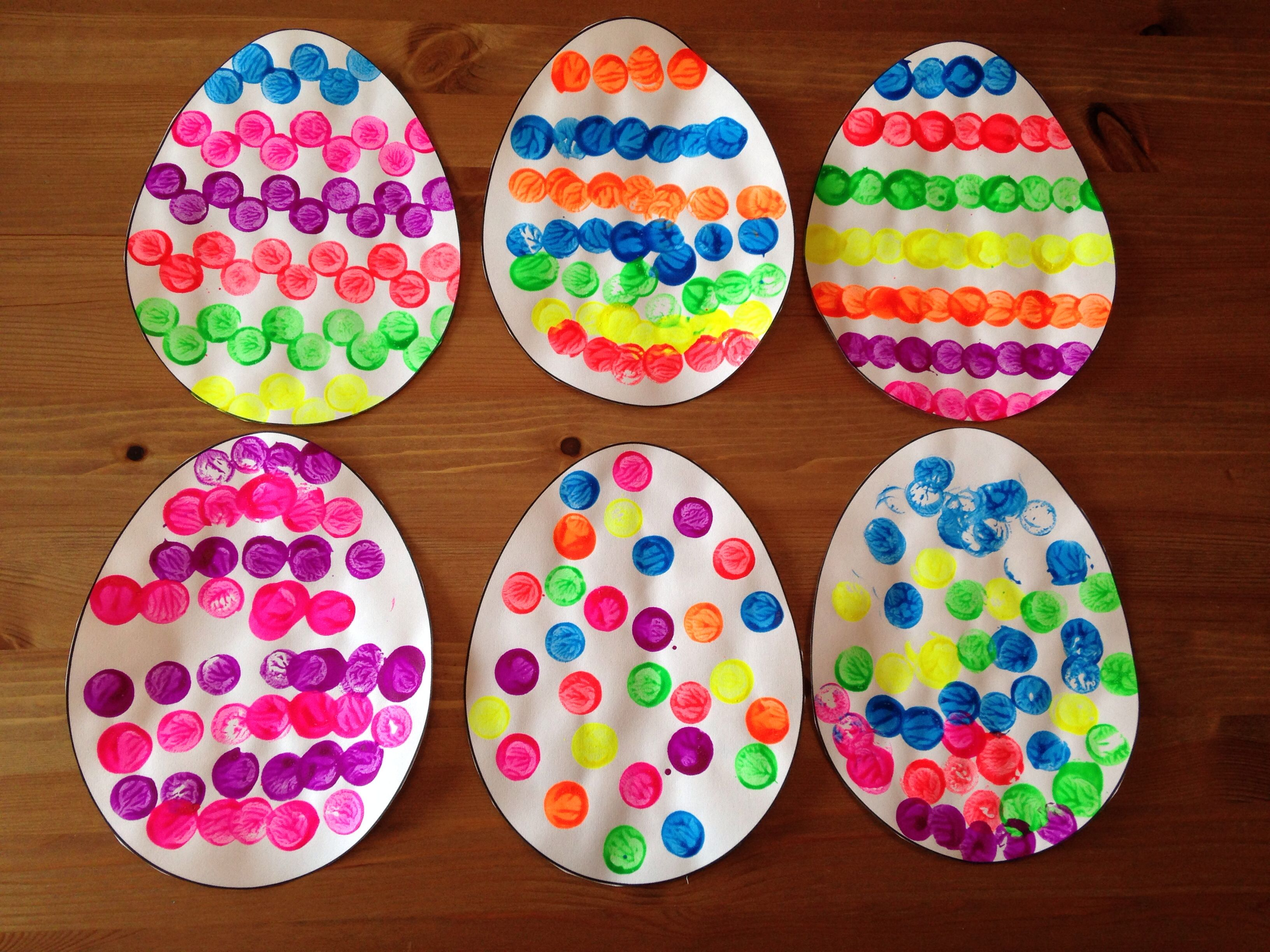 Cork Painted Easter Egg Craft