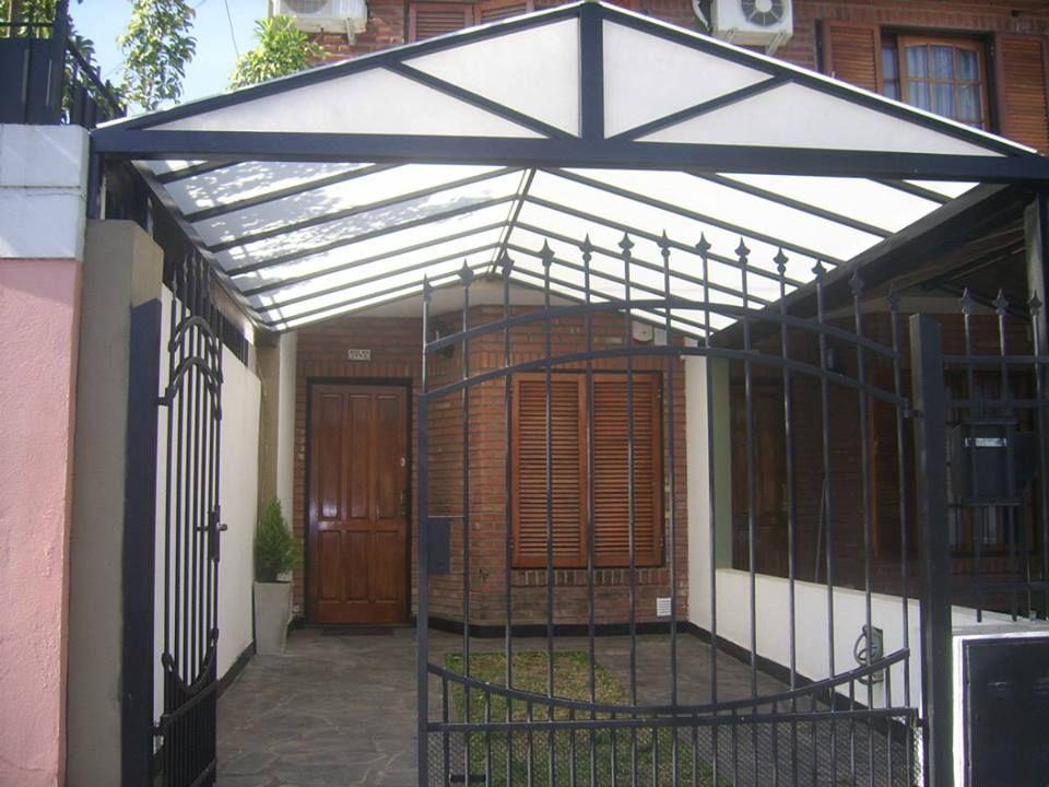Cochera techo de policarbonato dise os casa pinterest for Techo policarbonato transparente