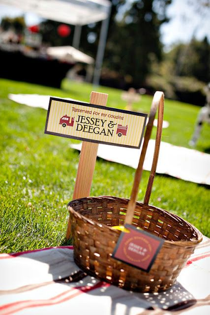 Love this idea for a pic nic party!