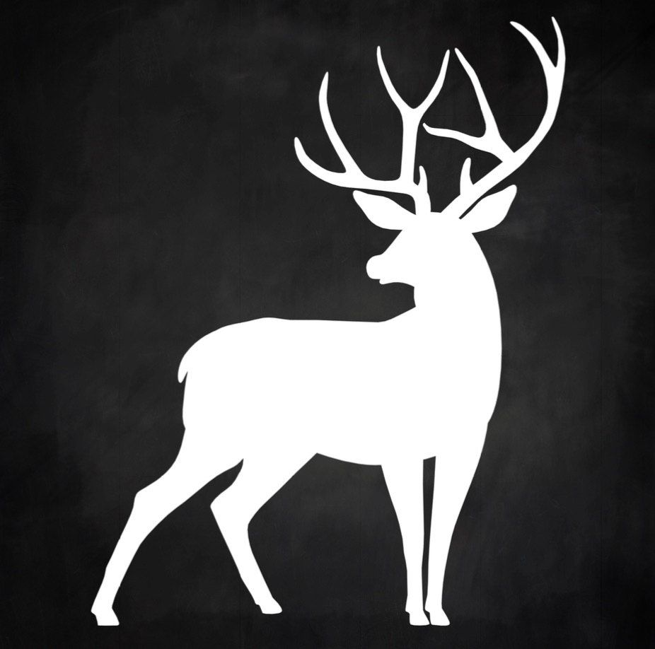 It is an image of Clean Reindeer Stencil Printable