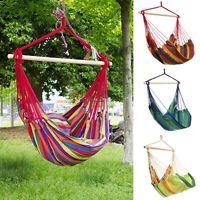 Charmant Canvas Hammock Hanging Rope Swing Chair Seat Bench Swinging Cushion Xmas  Gift