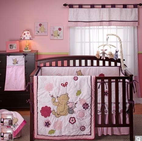 Winnie The Pooh Nursery, Pink Winnie The Pooh Baby Bedding