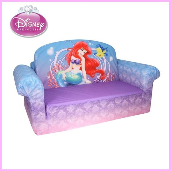 flip open sofa chair leather office disney princess little mermaid ariel kids for furniture room