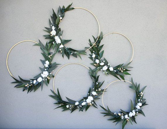Wedding Hoops with Greenery and Flowers Bridal shower decor Baby shower Backdrop Photo Backdrop floral wreath large wood hoop for decorating
