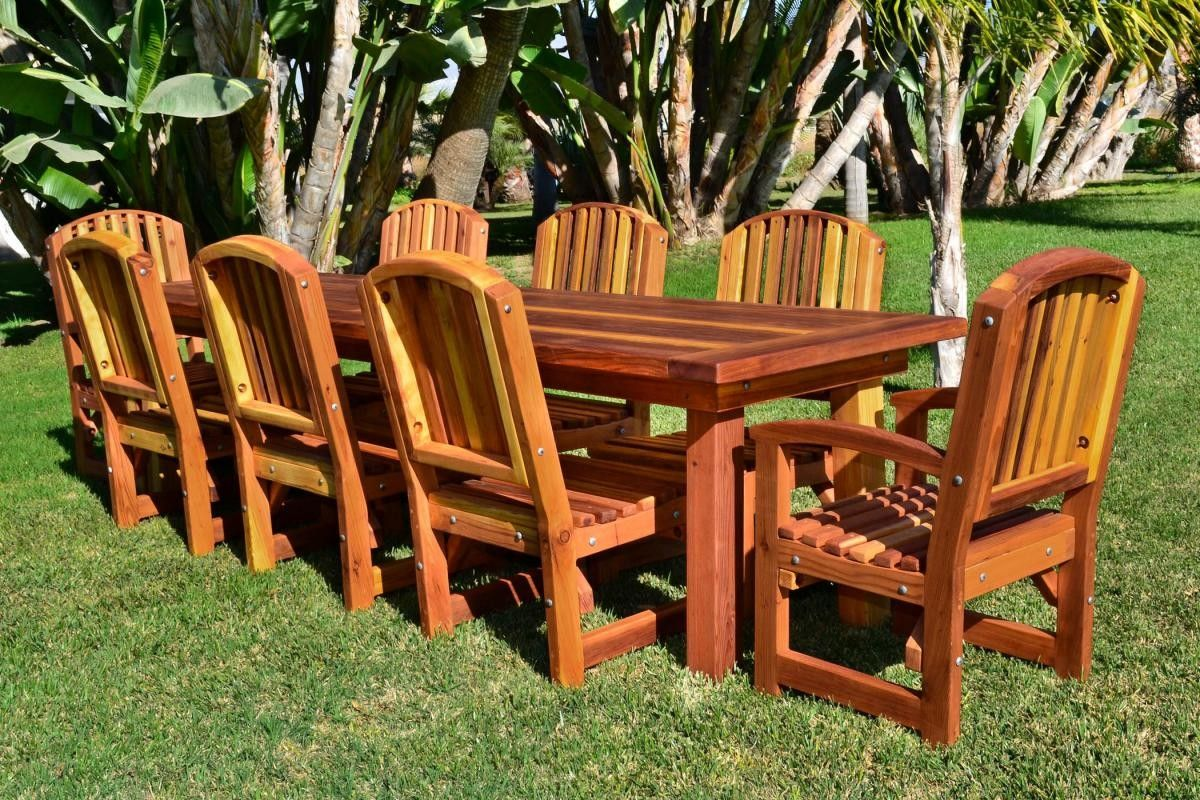 Shop Online For Rectangular Dining Tables At Forever Redwood. Hand Crafted  San Francisco Redwood Patio Table Available In Custom Sizes, Shapes, ...