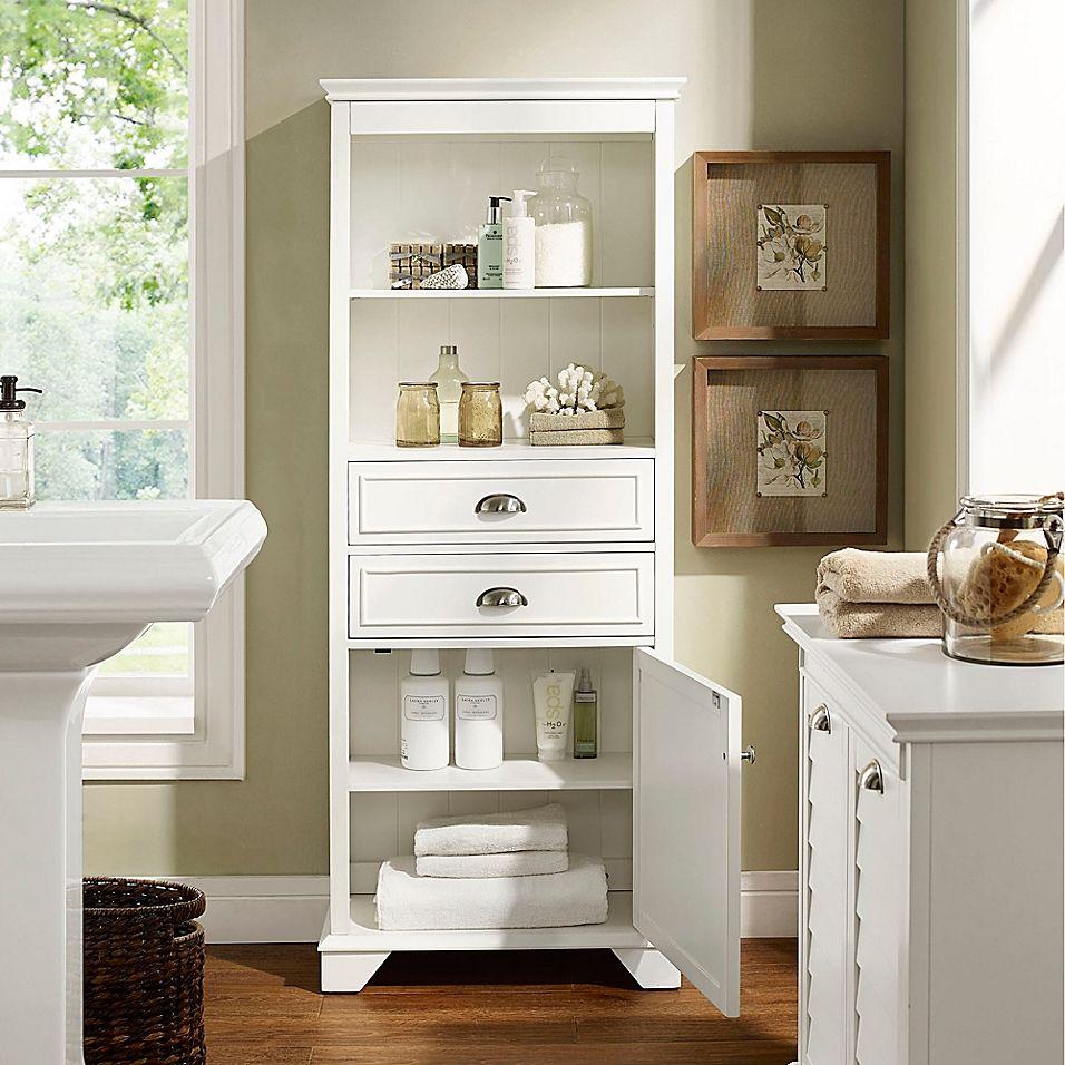 Crosley Lydia Bath Cabinet Bed Bath Beyond In 2021 Tall Bathroom Storage Tall Bathroom Storage Cabinet Bathroom Tall Cabinet